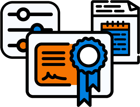Certificate, Sliders, and Header for HTTP Icon